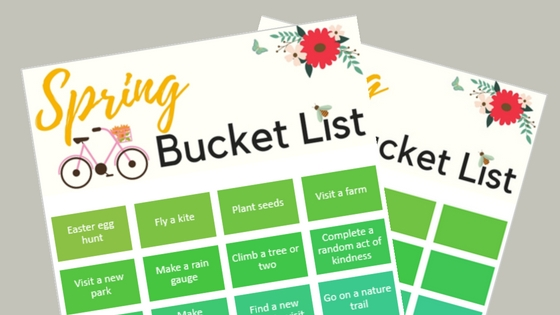 2 Page Spring Bucket List Printable (1)