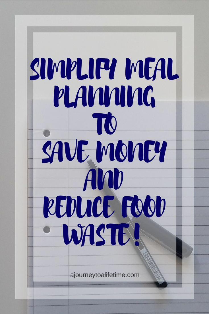 Simplify your meal planning to save money and reduce food waste. Meal planning is essential when on a budget or aiming to be more frugal.