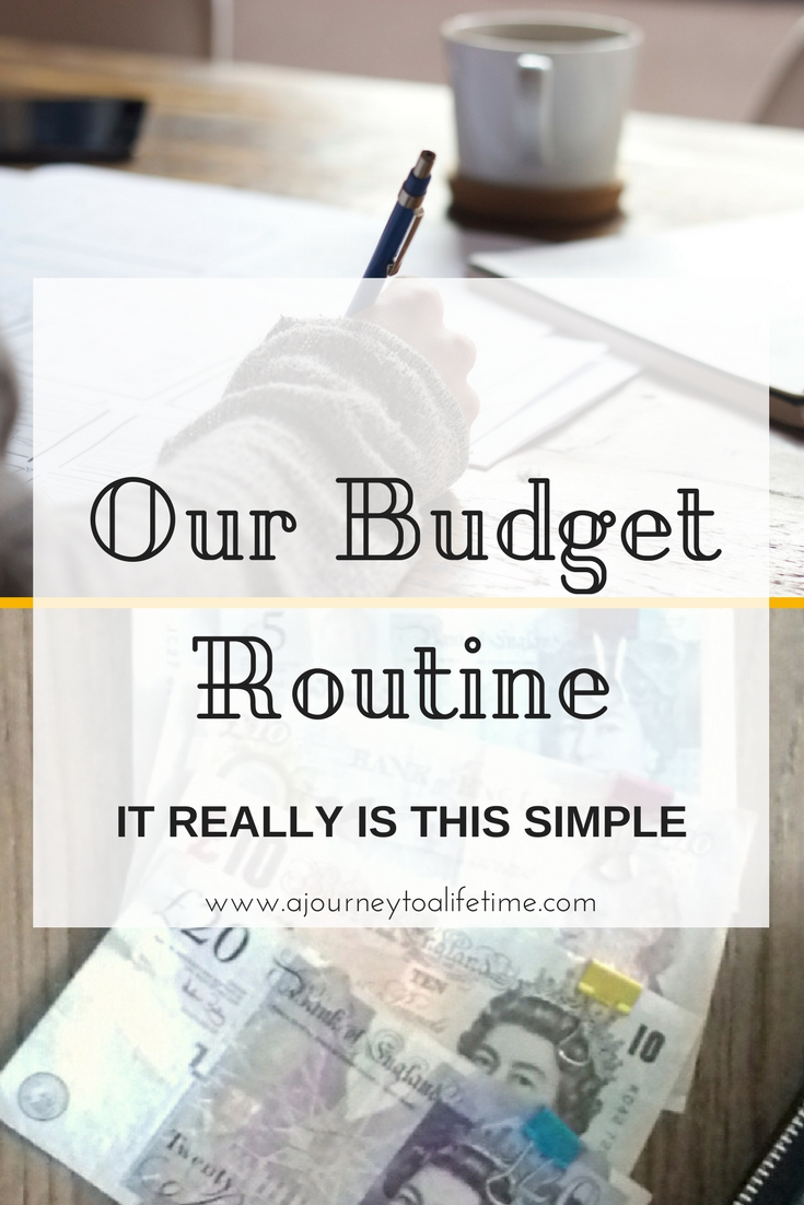 Our budget routine - it really is this simple. Looking at budgeting but feeling overwhelmed? I am sharing what budgeting really looks like during the month to show you that getting out of debt saving for something big or just living more intentional really could be that simple