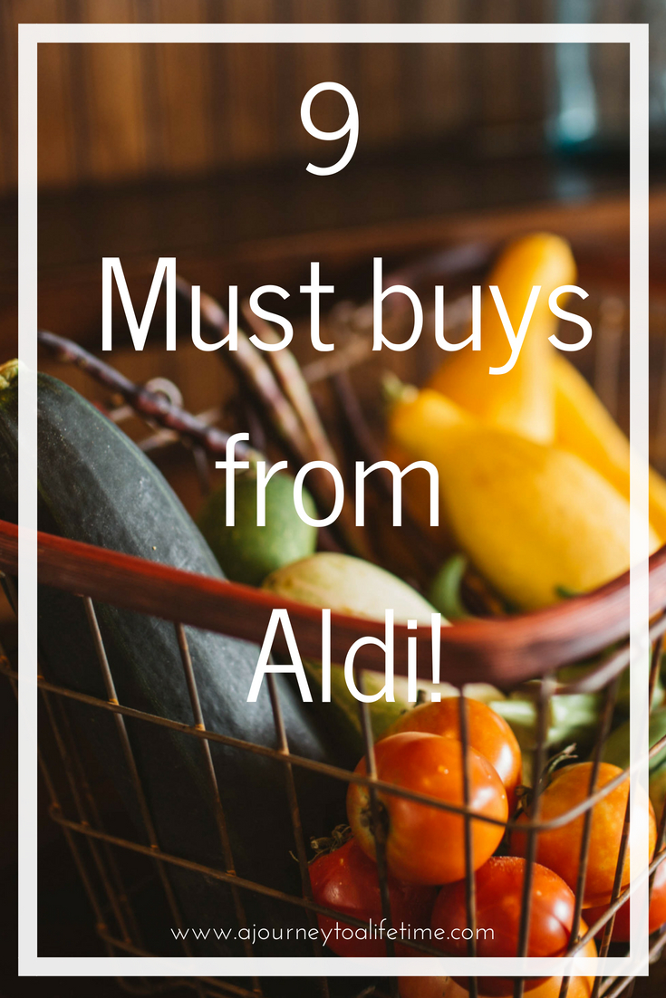 My 9 must buys from Aldi! Items I always buy due to quality and great price. Aldi uk store. What to buy in Aldi for the frugal family.