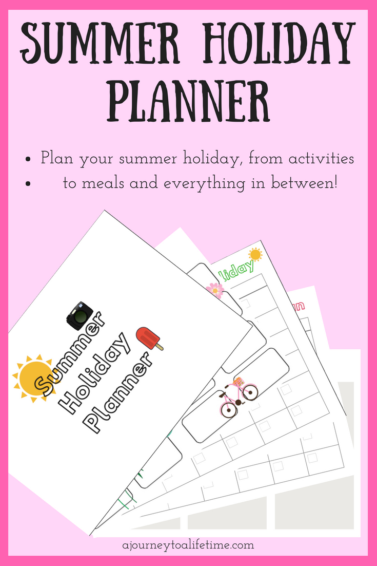 Summer Holiday Planner pin